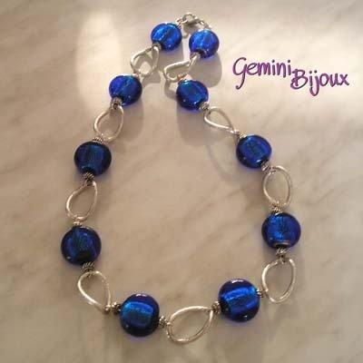 Collana Pastiglie Blu