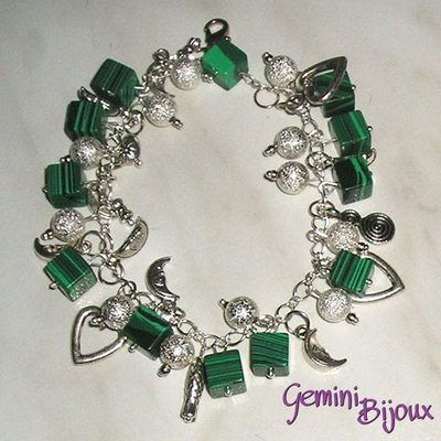 Bracciale Charms Malachite