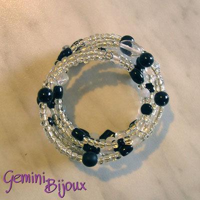 Bracciale armonico nero&crystal