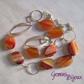 Collana Agata Arancio