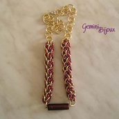 Collana Chainmail Rosso Oro