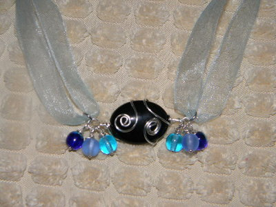 Collana Black and Blue Wire