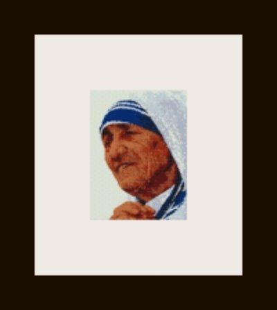 PDF schema ritratto Madre Teresa di Calcutta in peyote pattern - solo per uso personale