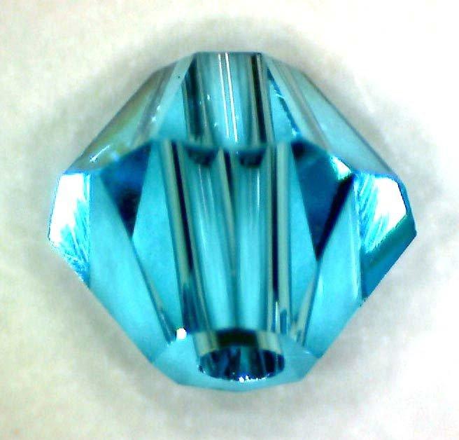 10 cristalli swarosky swarovski azzurro 4 mm