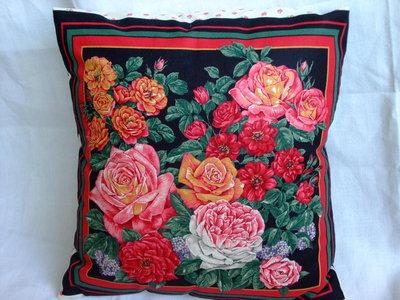 Fodera per cuscino cotone stampato americano bouquet di rose