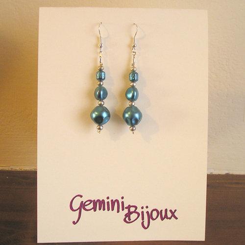Orecchini Perle azzurre
