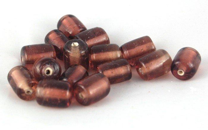 perle tubo vetro 2 pezzi 1cm viola murano glass