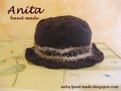 Cappello donna in lana pura