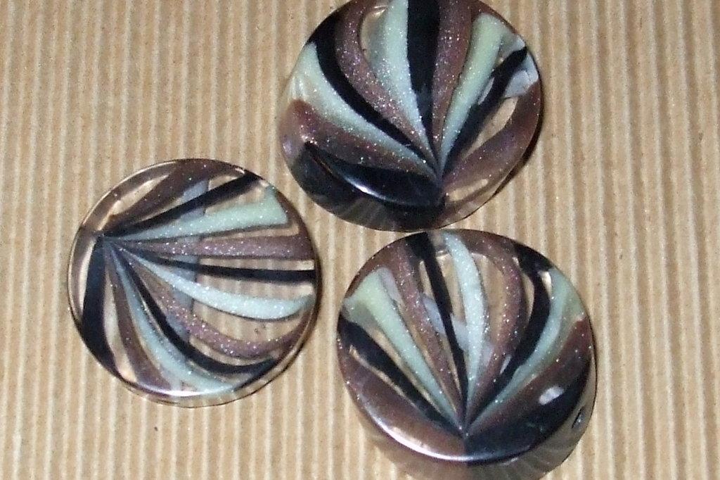 3 maxi perle resina 28mm