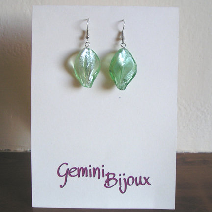 Orecchini Twirl Verde