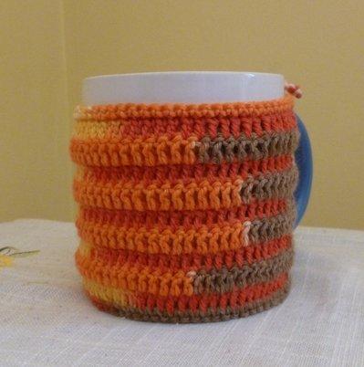 Copritazza  multicolor toni arancio