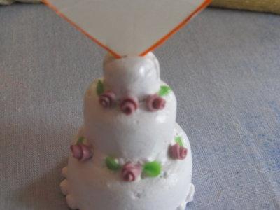 segnaposto torta nuziale