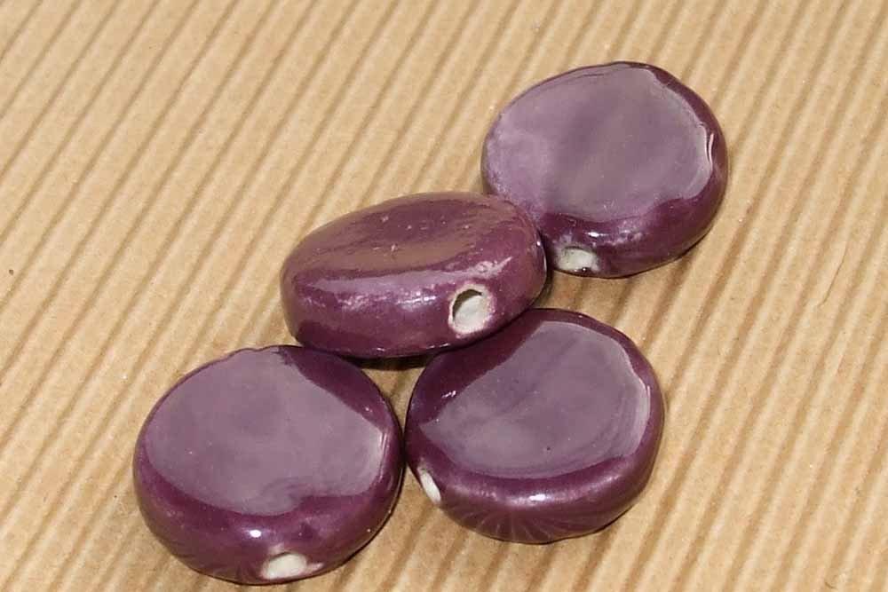 4 perle ceramica viola vinaccia