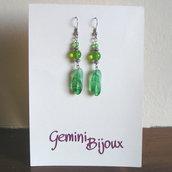 Orecchini verde foglia