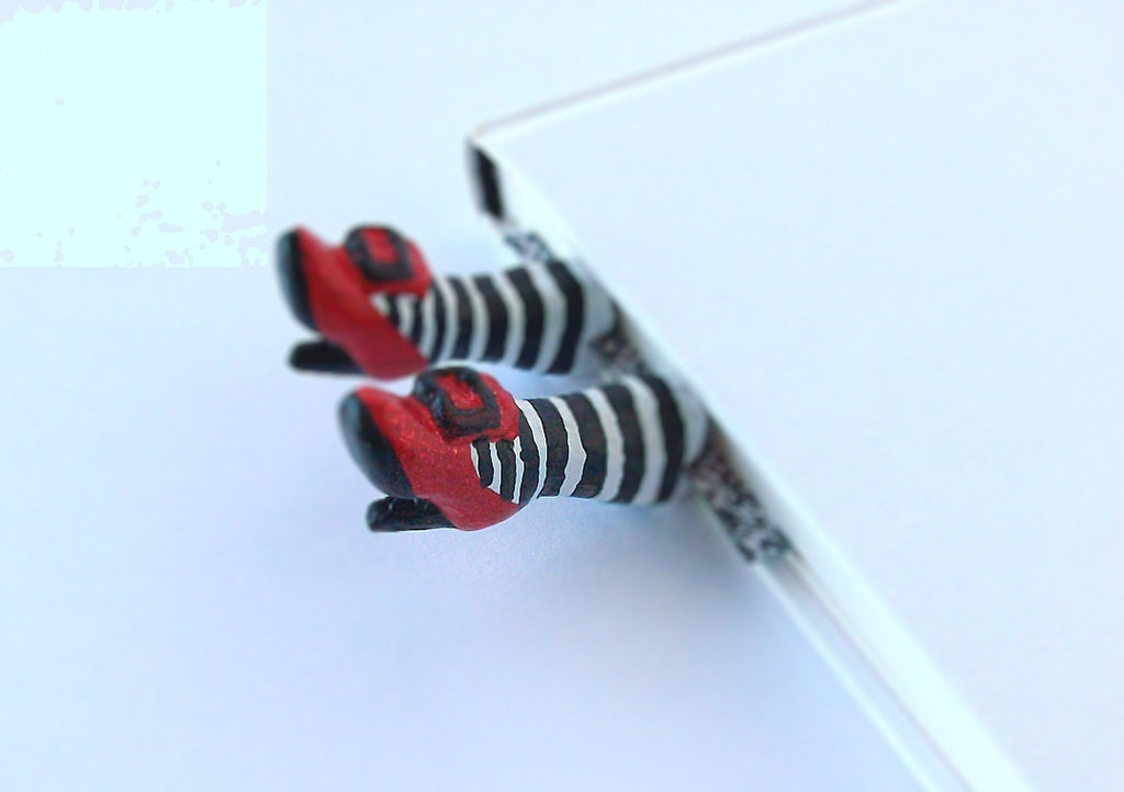 Wicked witch fashion high heels red shoes Inspired by Wizard of OZ .