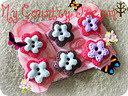 """Buttons """"Little Flower"""" set 6pz handmade"""