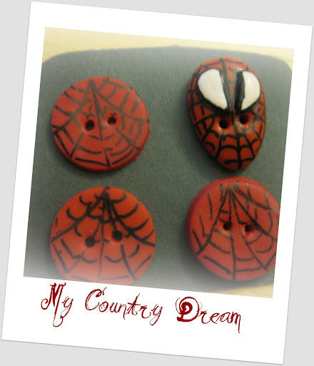 "Bottoni ""Spiderman"" set 4 pz"