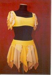 Completo danza per bimba tg 2 giallo
