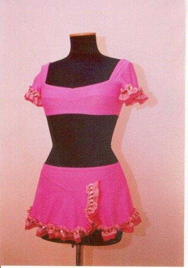 Completo danza per bimba tg 3 rosa