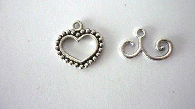"Chiusura ""Heart"" argentata"
