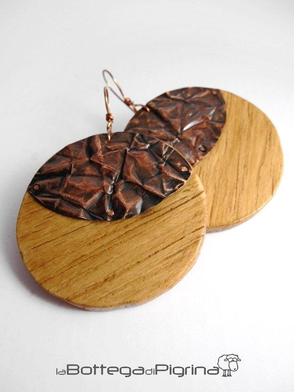 """Orecchini """"Wood Halfmoon"""""""