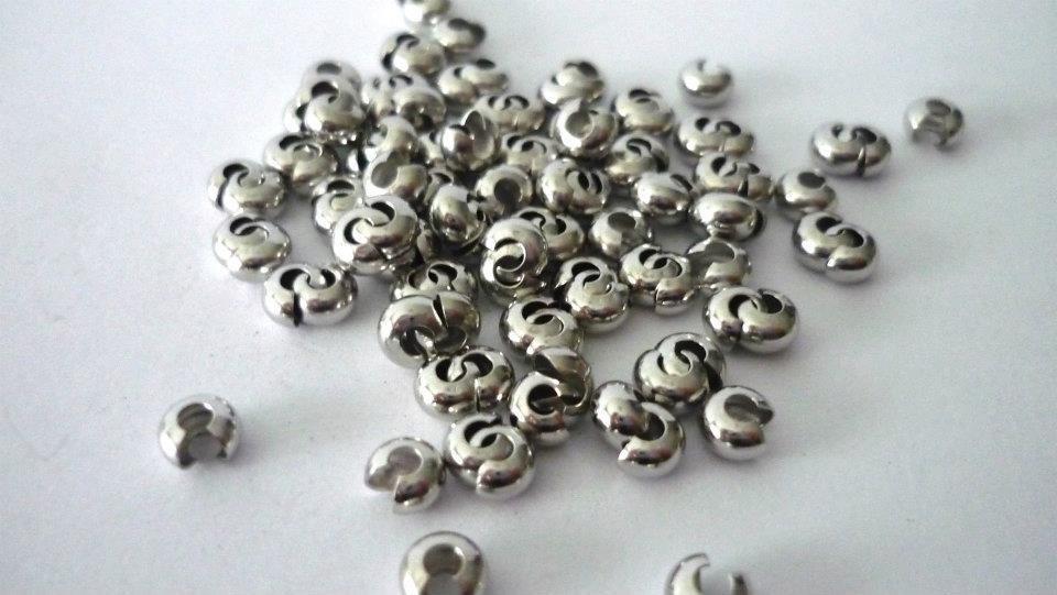 Coprischiaccini color platino 5 mm