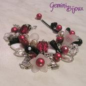 Bracciale rosso nero crystal