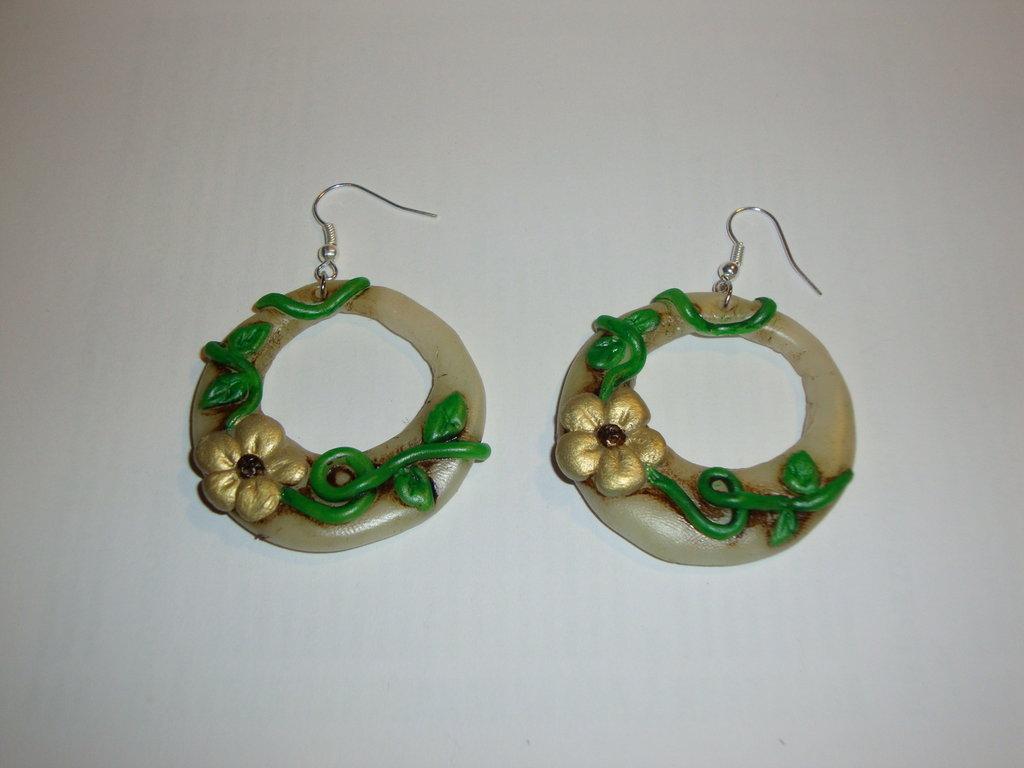 orecchini cerchio decorato