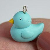 Rubber Duck charm - Blue