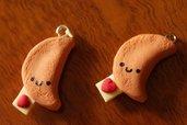 Biscotti della fortuna KAWAII / Fortune Cookies (Ciondoli in Fimo)