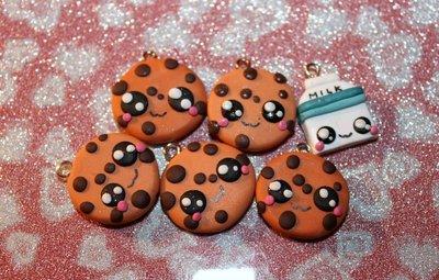 Cookies and Milky - Stock ciondoli KAWAII in Fimo