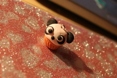 Cupcake Panda Charm (FIMO) Kawaii