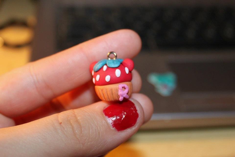 Rilakkuma Strawberry Cupcake Charm