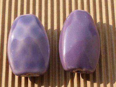 2 maxi perle ceramica violetto S.