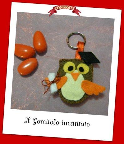 Bomboniera gufetto laureato