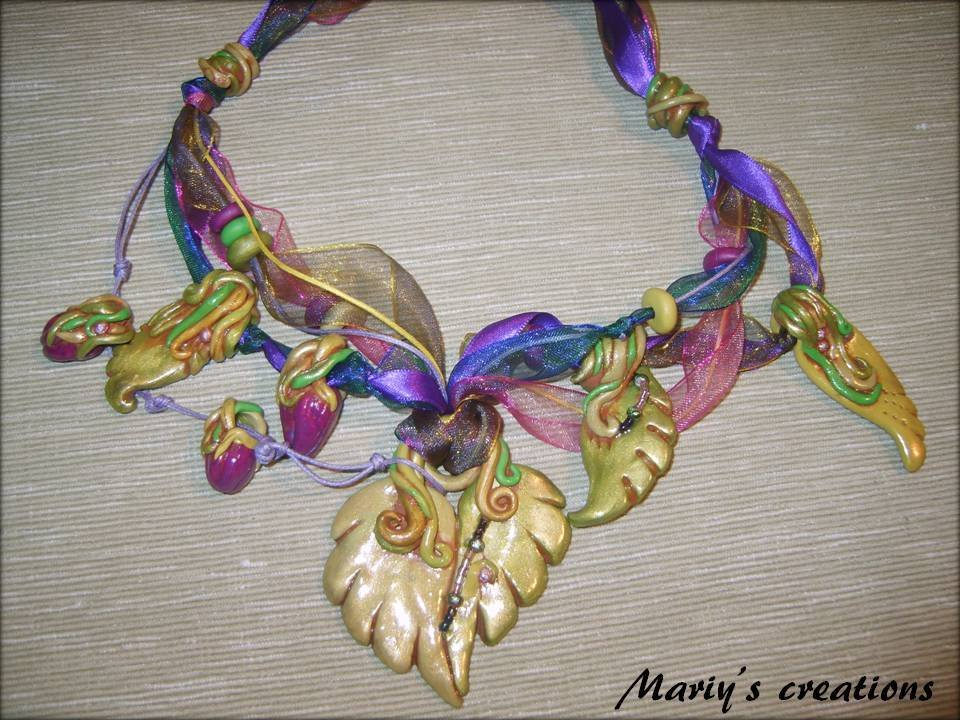 Jungle Style 1, collana in pasta polimerica/polymer clay
