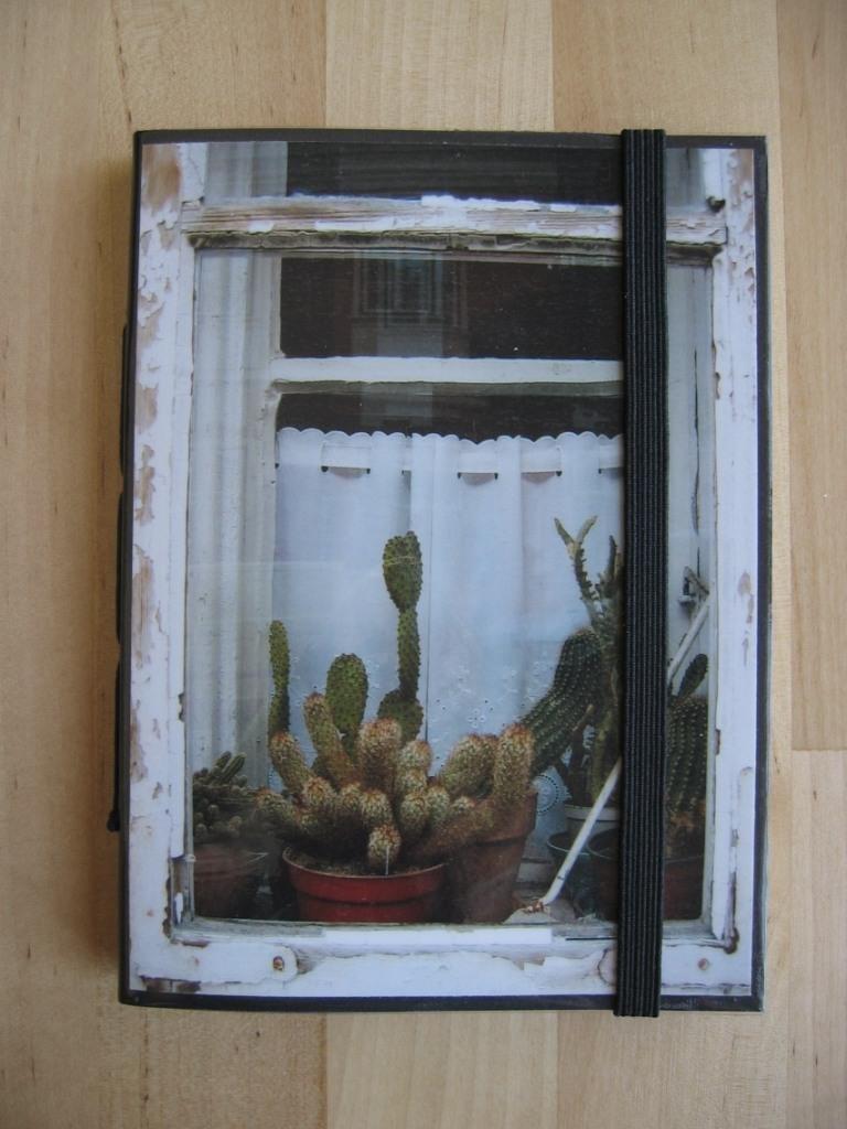 FINESTRA CON CACTUS - Taccuino con foto originale (Budapest) - Pocket size