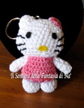 Amigurumi Hello Kitty portachiavi, bomboniera