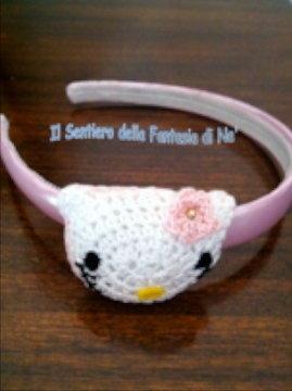 Cerchietto capelli Hello Kitty Amigurumi
