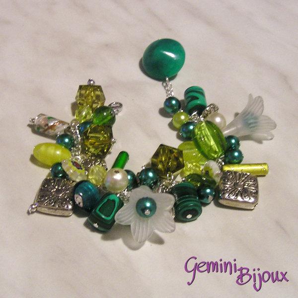 Bracciale grappolo verde