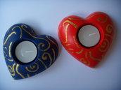 Cuore portacandela in polvere di ceramica + candela !!!