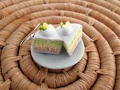 Orecchini torta kiwi e limone in Fimo