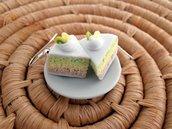 Orecchini torta kiwi e limone in Fimo