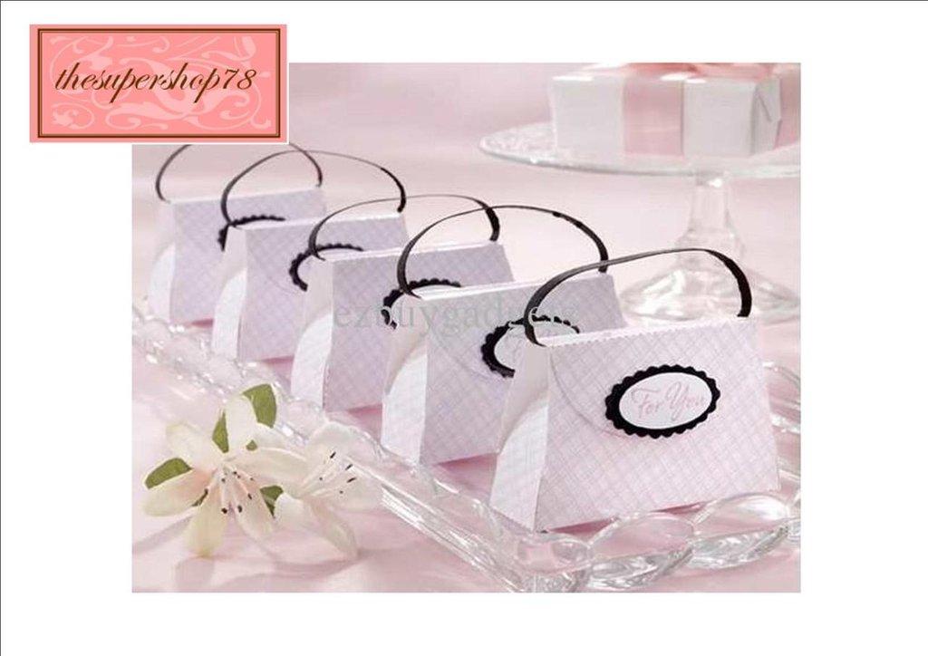 100 x Scatoline/Confezioni/Borsettine dei Regali di Matrimonio---Rosa
