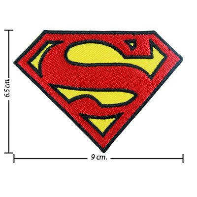 TOPPA/IRON PATCH SUPERMAN PATCH RICAMATI