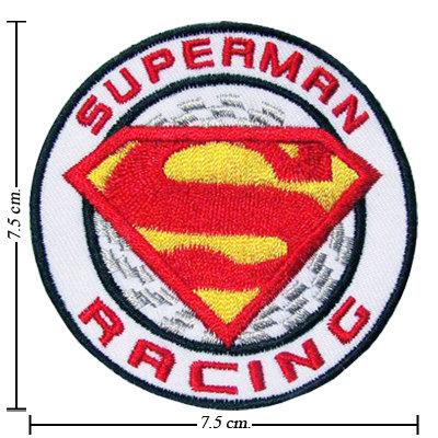 TOPPA/IRON PATCH SUPERMAN RACING PATCH RICAMATI