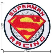 TOPPA/IRON PATCH SUPERMAN RACING PATCH RICAMATI