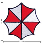 TOPPA/IRON PATCH Resident Evil Umbrella Logo PATCH RICAMATI