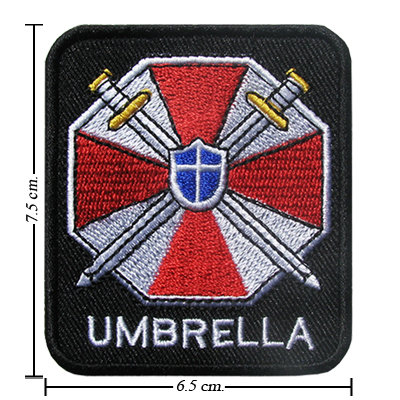 TOPPA/IRON PATCH Resident Evil Umbrella Logo 2 PATCH RICAMATI