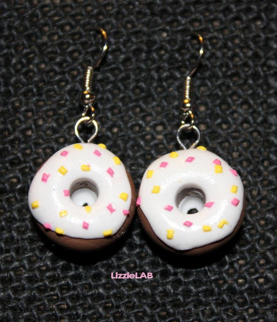 Orecchini ciambella donut